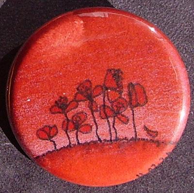 Badge Coquelicots - Rouge