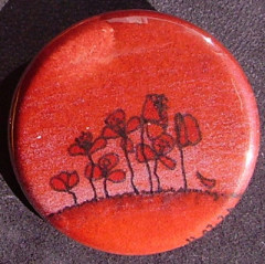 Badge Coquelicots - Rouge