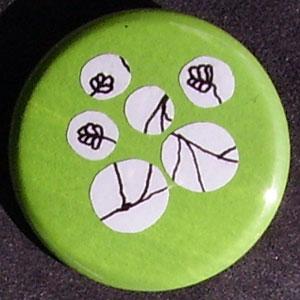 Badge Fleurs - Pomme