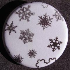Badge Flocons - Blanc