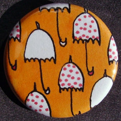 Badge Parapluie - Orange