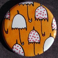 Badge Parapluie - Orange