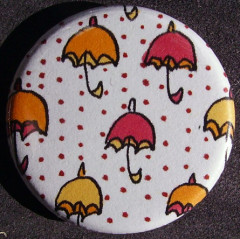 Badge Parapluie - Pois Rouges