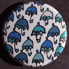 Badge Parapluie - Bleu Camaieu