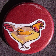 Badge Poule Rouge
