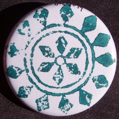 Badge Rosace Turquoise