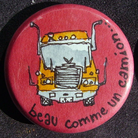 Badge Camion Rouge
