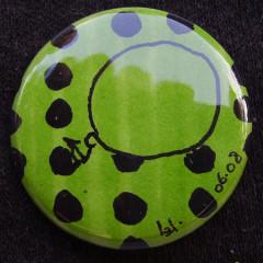 Badge Ballon Coquecinelle Vert Pomme