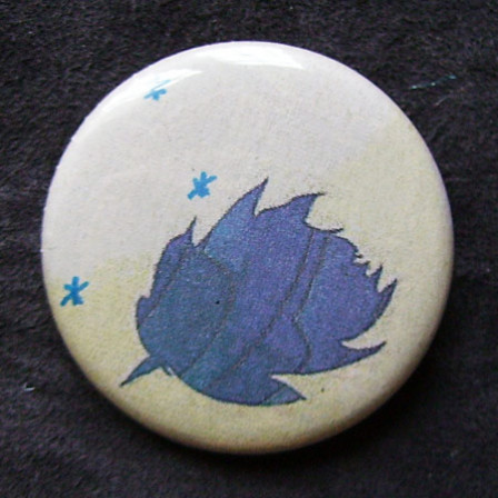 Badge Blanche Feuille