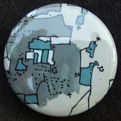 Badge Carto BleuBlancGris
