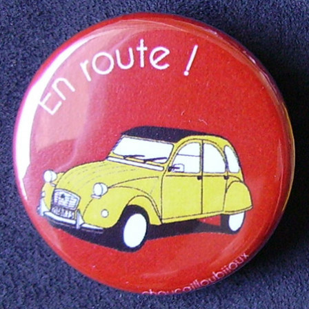 Badges 2CV - En route ! Rouge