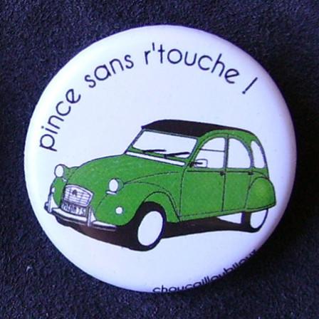 Badges 2CV - Pince sans retouche !