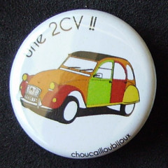 Badges 2CV - Multicolore