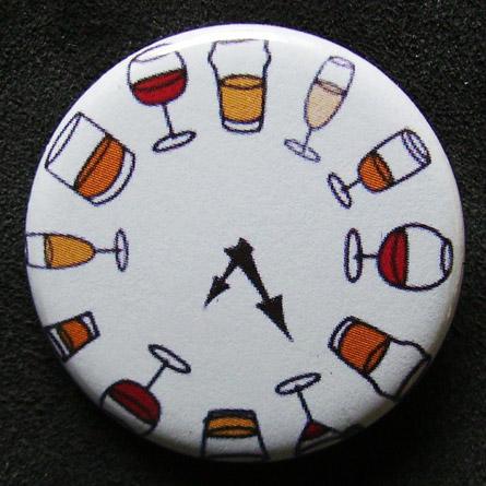 Badge Taverne - Horloge