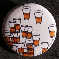 Badge Taverne - Une Petite Bière Blanche
