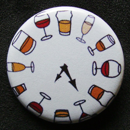 Badge Taverne - Horloge
