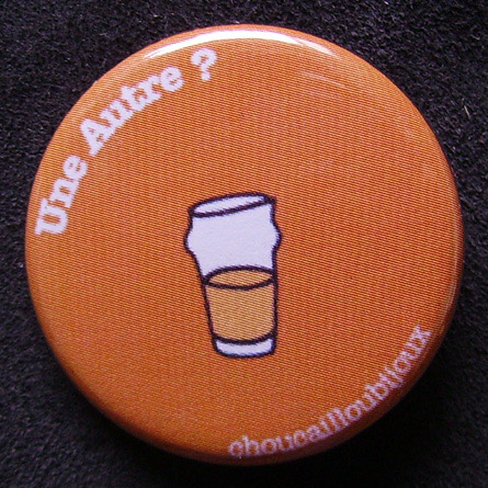 Badge Taverne - Une autre orange