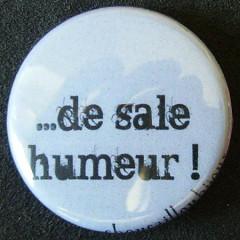 Badge Aujourd'hui je suis - De Sale Humeur !