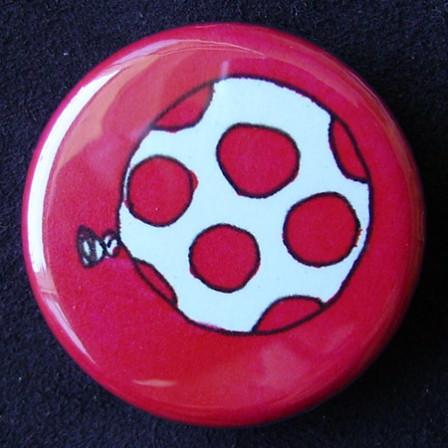 Badge Ballons - Rose à Pois