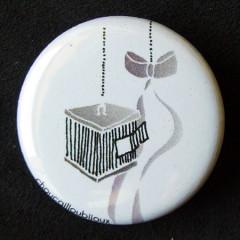 Badge Volière - Blanc
