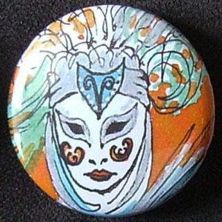Badge Carnaval - Blanc
