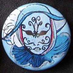 Badge Carnaval - Bleu