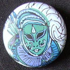 Badge Carnaval - Turquoise