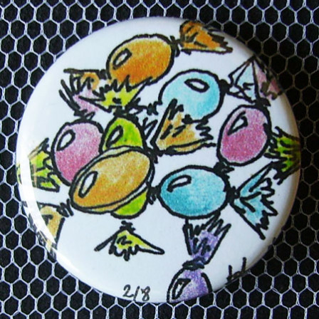 Badge Gourmandise - Bonbons Pastels