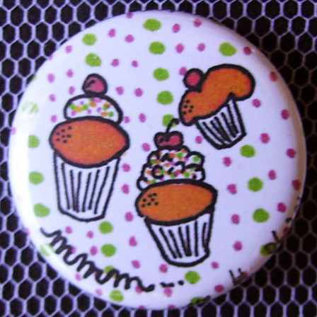 Badge Gourmandise - Mmm... des Cupcakes !