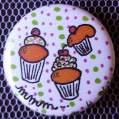 Badge Gourmandise - Mmm... des Cupcakes !