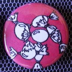 Badge Gourmandise - Rose Bonbon