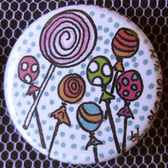 Badge Gourmandise - Sucettes