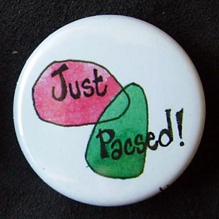 Badges Just Pacsed - Rose & vert