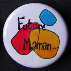 Badge Future Maman - Bleu