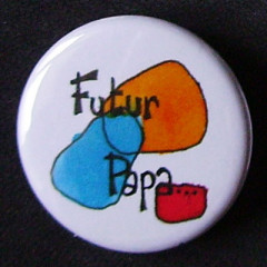 Badge Futur Papa - Bleu