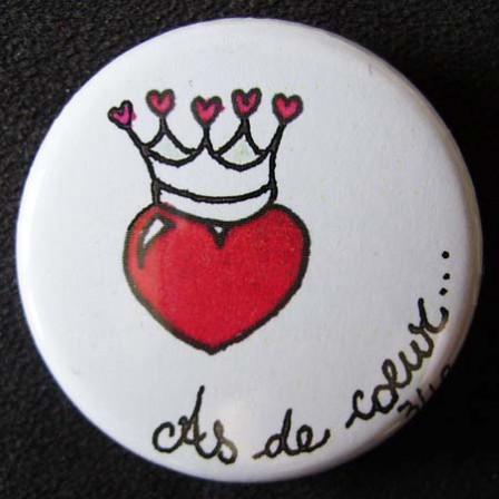 Badge «Les Amoureux» As de Cœur