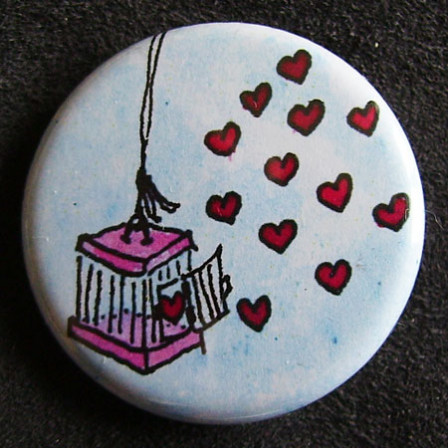 Badge «Les Amoureux» Cage aux Papillons