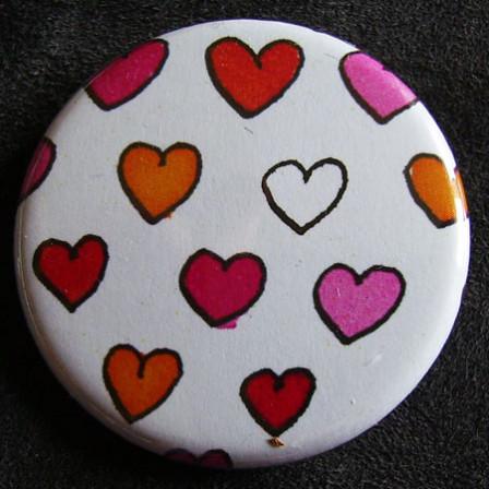 Badge «Les Amoureux»  Coeurs de Filles