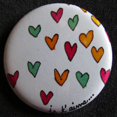 Badge «Les Amoureux»    Je t'aime