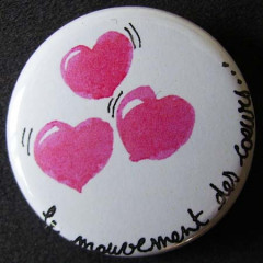Badge «Les Amoureux» Le Mouvement des Cœurs
