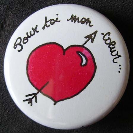 Badge «Les Amoureux» Pour Toi Mon Cœur