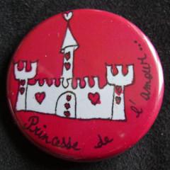 Badge «Les Amoureux» Princesse de l'Amour