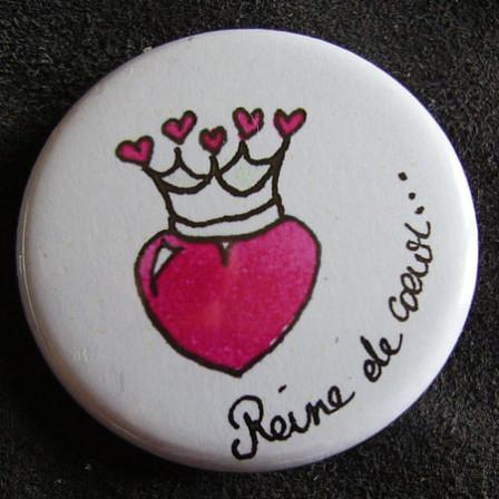 Badge «Les Amoureux» Reine de Coeur