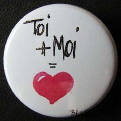 Badge «Les Amoureux» Toi+Moi