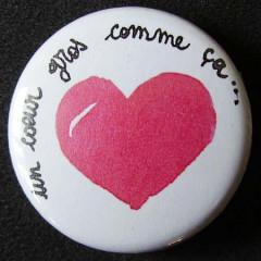 Badge «Les Amoureux» Cœur Gros