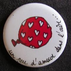 Badge «Les Amoureux» Un peu d'Amour dans l'Air