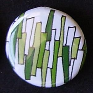 Badge Motifs Verts - Briques
