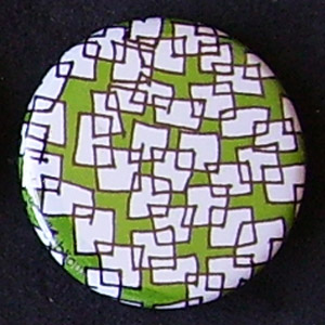 Badge Motifs Verts - Carrés