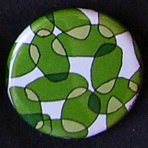 Badge Motifs Verts - Ovales Vert Vif