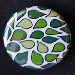 Badge Motifs Verts - Camaieu Vert